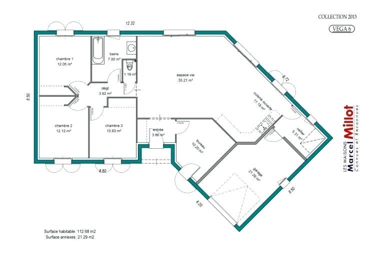 4641d331135108 Plan maison en forme de v - Idées de travaux