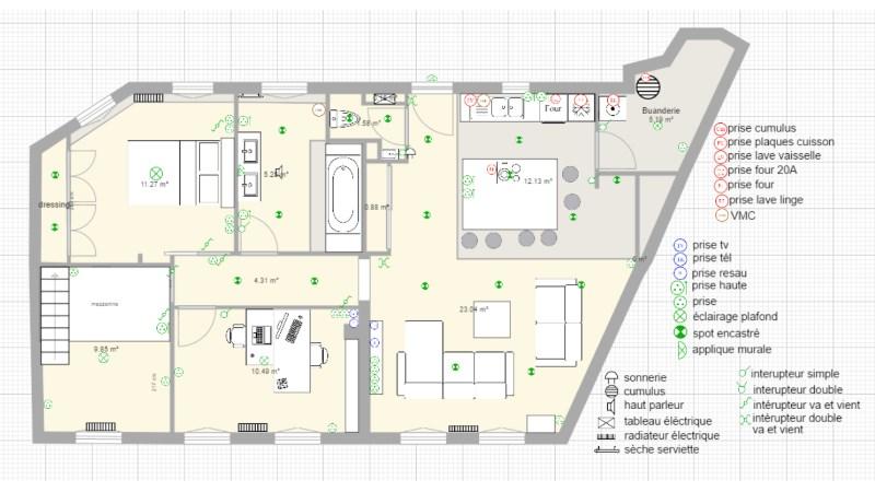 Je veux dessiner un plan de maison