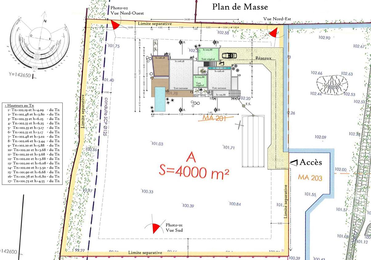 Plan de masse maison plein pied id es de travaux - Plan de masse maison individuelle ...