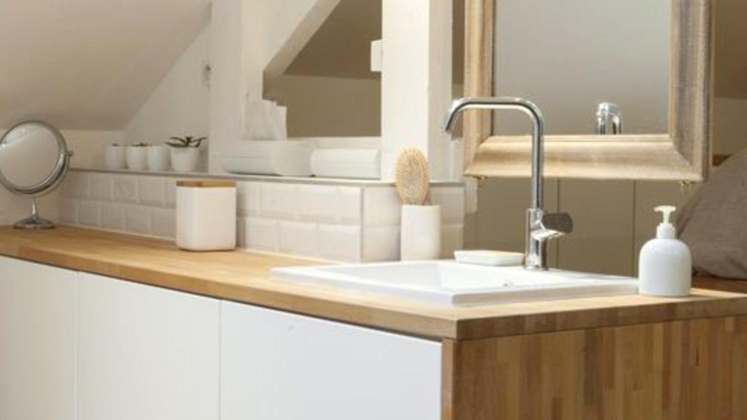 plan de travail salle de bain maison  idées de travaux