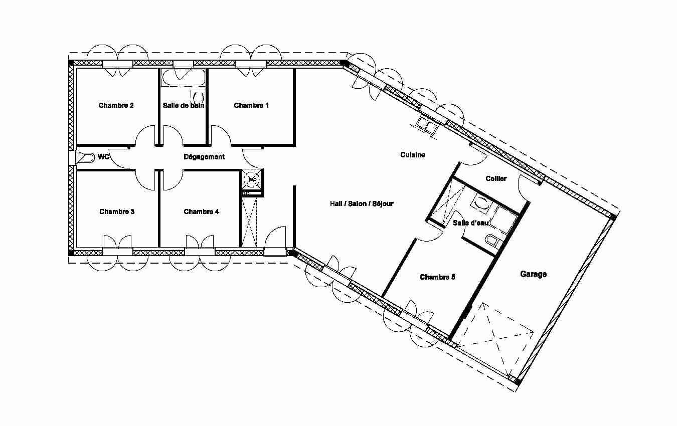 Plan Maison En V Avec Double Garage Idées De Travaux