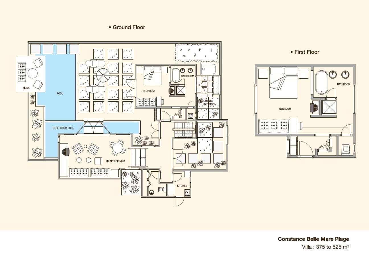 Plan de maison de luxe avec piscine - Idées de travaux