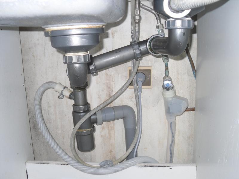 evacuation lave vaisselle siphon evier - idées de travaux