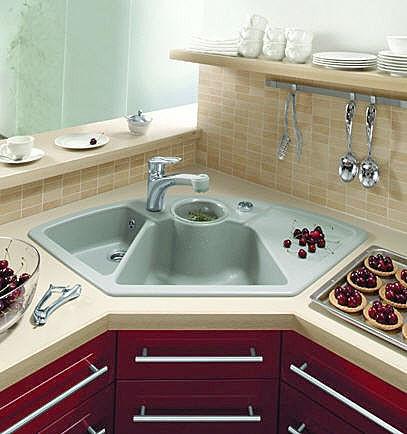 Evier angle cuisine id es de travaux - Evier de cuisine d angle ...