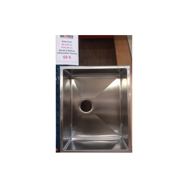 Patte fixation evier inox