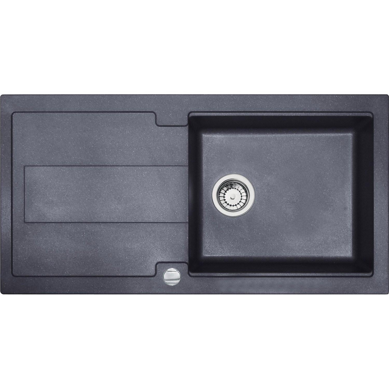 Evier Granit Noir 1 Bac Et Demi Idées De Travaux