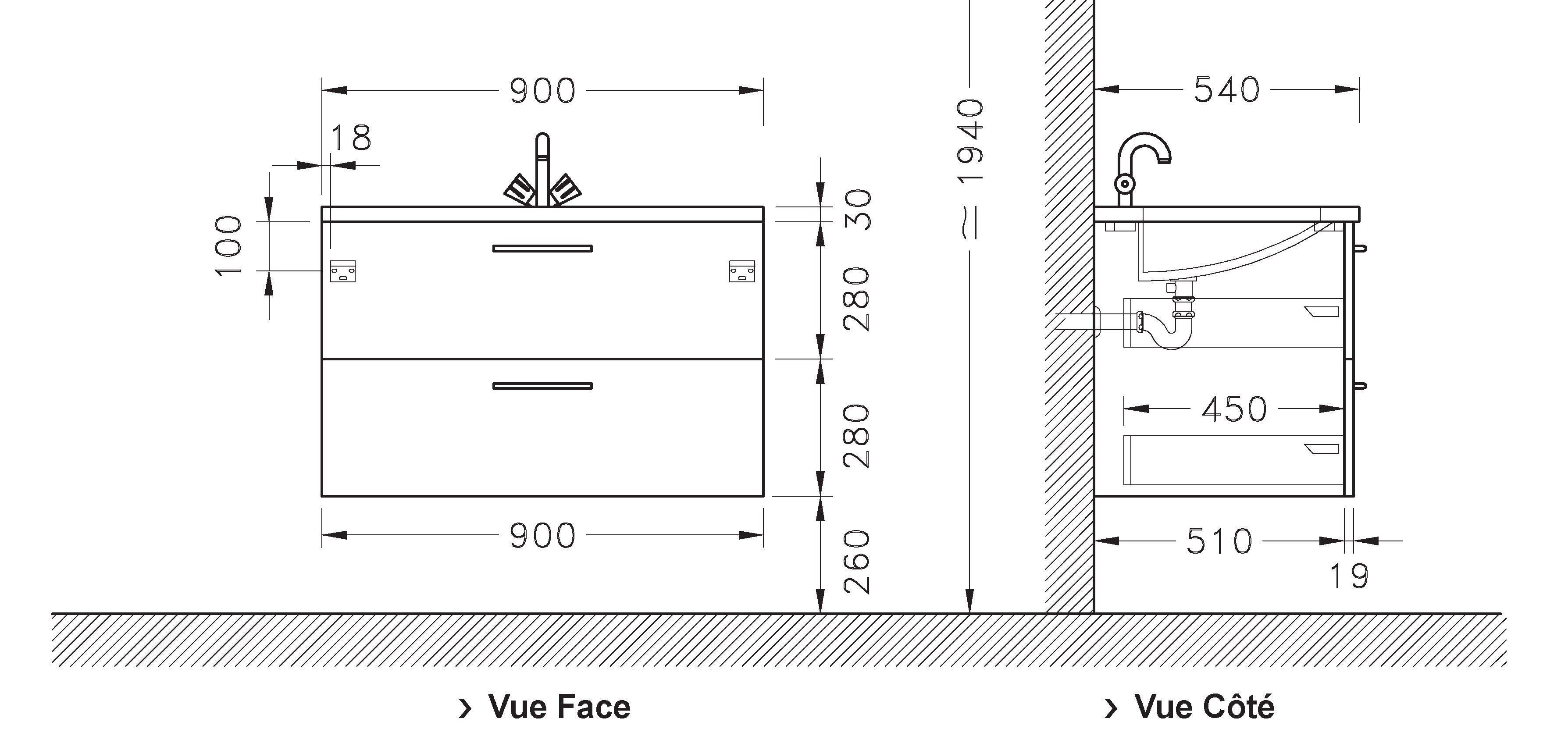 hauteur evacuation evier cuisine id es de travaux. Black Bedroom Furniture Sets. Home Design Ideas