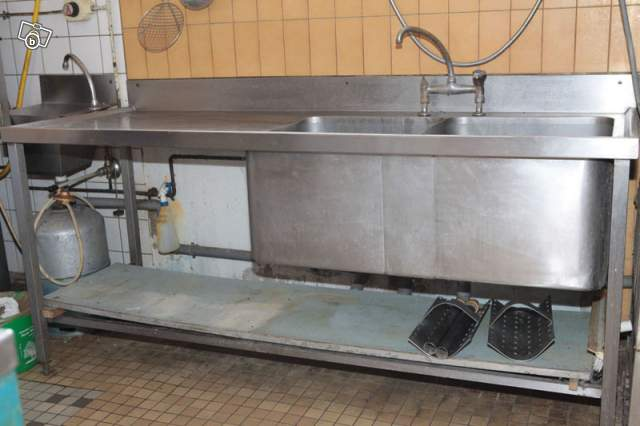 Evier inox 2 bacs occasion